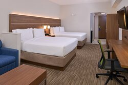 Our 2 Queen Suite sleeps up to 5! 2 Queen Beds and a Sleeper Sofa