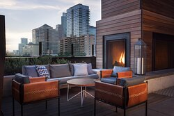 Rooftop Lounge and Fireplace