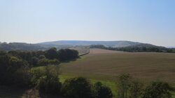 Arial view from the campground, overlooking neighbouring field (NOT CAMPING FIELD)