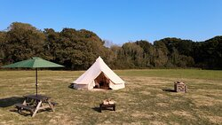 5m Bell Tent set-up
