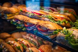 Wide selection of sandwiches.