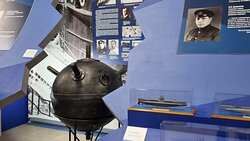 Павильон музейного комплекса ВМФ рассказывает о героях флота, представлены модели подводных лодок