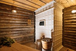 Parilka (steam room) in the Private Banya