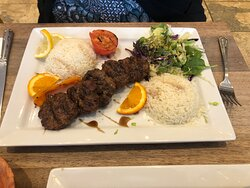 Lamb Kofte, very tasty, meat tender and soft.