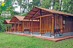 """""""5 semi-equipped """"Colibrí"""" cabins with capacity for up to 4 people."""""""