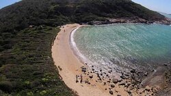 Vista aerea praia do Ermitão.