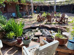 The beautiful and private courtyard at El Portal Sedona Hotel.