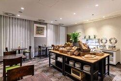 Breakfast Room Overview in Leopold Hotel Oudenaarde