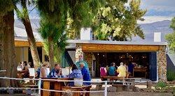 Outdoor dining at Obiqua Café at Duikersdrift