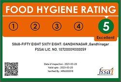 5868 Restaurant - Food Hygiene Rating