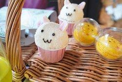 可愛的兔兔蘿蔔蛋糕