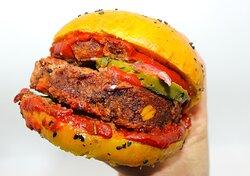 Burger vegan mexicain