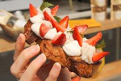 Toast tarte aux fraises