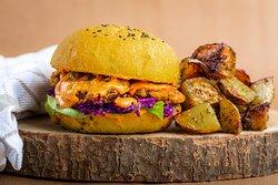 "Burger vegan façon ""chicken burger"""