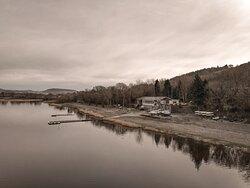 Lakeview cafe set alongside Llyn Tegid Bala Lake 👍