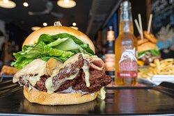 Winner Winner Fried Chicken, Swiss, Bacon, Cos, Red Onion & Ranch