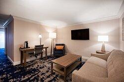 ADA handicap accessible suite with separate living area