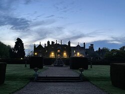 Eastwell Manor from the gardens at dusk