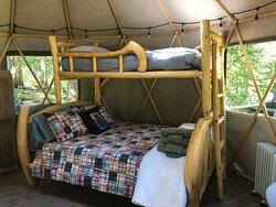 Inside Yogi's Yurt