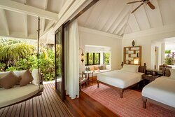 Anantara Kihavah Family Beach Pool Villa Kids Bedroom exterior view