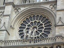 the earliest rose window, on the west façade
