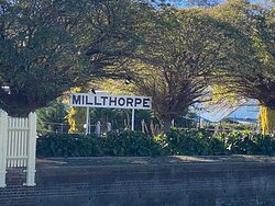 Millthorpe is a little gem of a country town- beautiful homes and village. We ate dinner at the newly opened Commercial Hotel- melt in your mouth beef cheeks- brunch at The Old Mill Cafe- yum- and browsed the lovely shops. Drinks at the cellar doors in town. Only ten minutes from Blayney and twenty from Carcoar and Orange- a prefect location