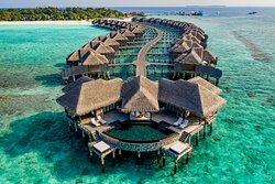 JA Manafaru I Two Bedroom Ocean Residence with Family Infinity Pool.  Lagoon & Vista.