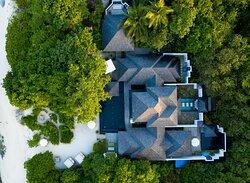 JA Manafaru I Two Bedroom Beach Residence with Family Pool & Private Pool. Villa Footprint.