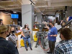 Production tour at Shipyard Brewing Company.