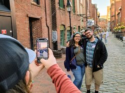 This guide knows the best spot for couples photos in Portland's Old Port.