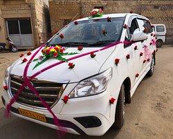 My customer wedding decoration my car