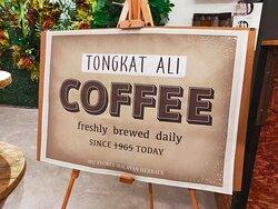 Fresh brewed Tongkat Ali Coffee