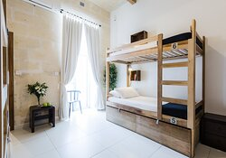 Shared rooms of either 4 or maximum 6 guests
