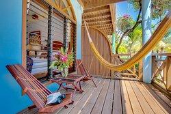 Beachfront room porch