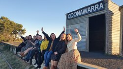 Waiting for a train at the Coonawarra Railway Siding