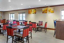 Enjoy breakfast in this seating area