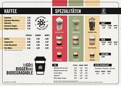 Unsere Getränkekarte