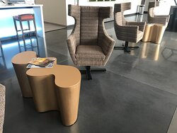 Comfy seating in lobby.