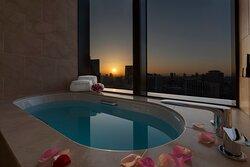 Prestige Corner View Bath With Flower