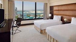 Modern rooms with bright marina & gulf views