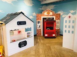Little ones can enjoy hours of creative and imaginative play in the Cafe and Fire Station. Part of the new Mini Role Play Village in the Sky Terrace Cafe Bar at Head Over Heels Chorlton
