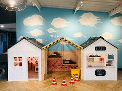 Little ones can enjoy hours of creative and imaginative play in  the new Mini Role Play Village in the Sky Terrace Cafe Bar at Head Over Heels Chorlton