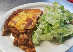Lasagna with Caesar Salad, when Available
