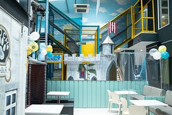 For hours on fun, children can access the play frame from the new Sky Terrace Cafe Bar.