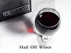 Half Off Wine down Wednesday, choose from 120+ Wines and pair your wine with the menu item of your choice...see you soon for Dinner Dine in or Takeout- At elm st. grill