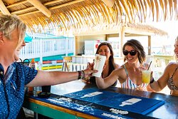 Cheers at the Tiki Bar