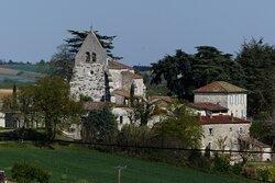 Église de Saint Vincent Lespinasse vue Coté Ouest
