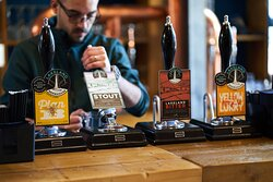 A range of local cask ales.