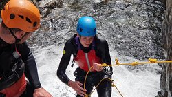 The Esk Gorge in Eskdale. Extreme canyoning in the Lake District