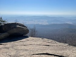 The first vista right before the main rock-scramble begins. Enjoy the views and take your time.